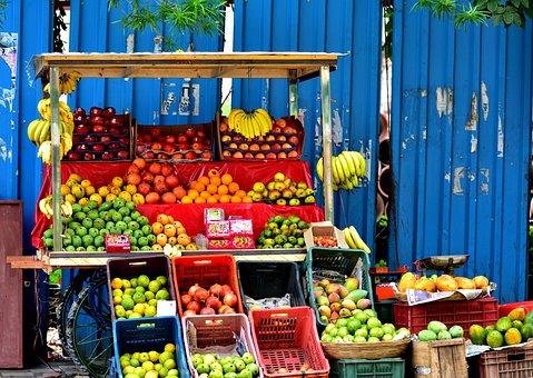 Fruits, Street Photography, Market, Shop, India