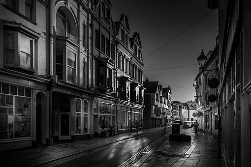 Architecture, Street, Buildings, Road, Town, Barbican