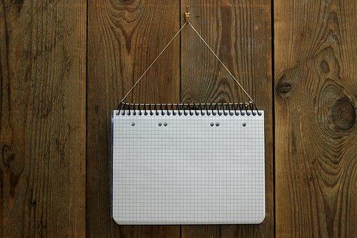 Wooden Wall, Writing Pad, Notes