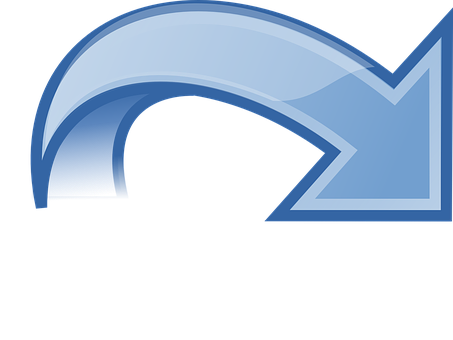 Arrow, Turn Around, Blue, Sign, Symbol