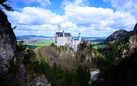 Neuschwanstein, Bavaria, Castle, Schloss, Bayern