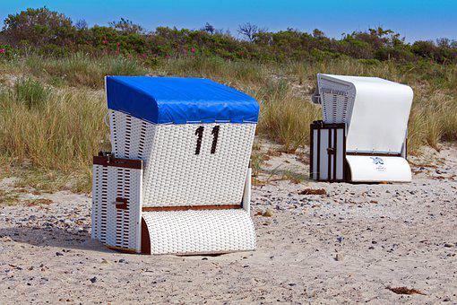 Dune, Beach Chair, Summer, Beach, Vacations, Baltic Sea