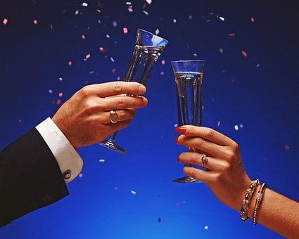 Celebration, Champagne, Wine Glasses, Wedding