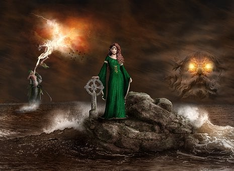 Composing, Fantasy, Mystical, Photomontage, Mysterious