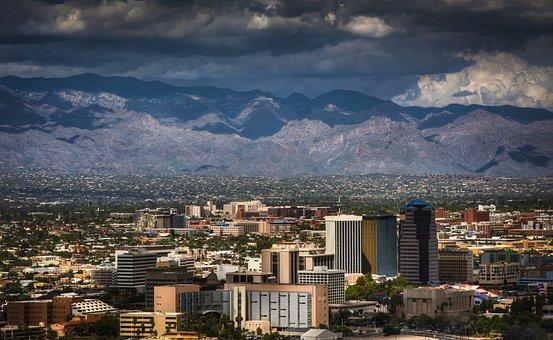 Tucson, Arizona, Monsoon, Desert, Landscape, Southwest