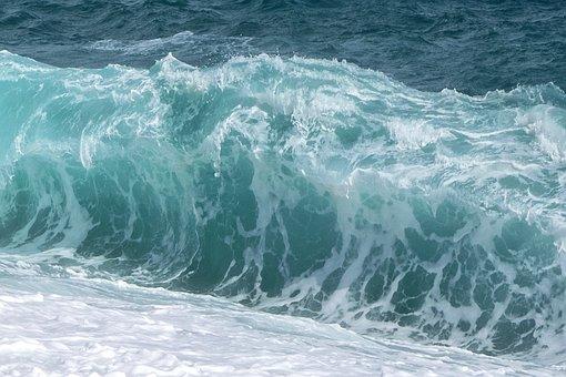 Waves, Sea, Blue, Movement, Wave, Foam