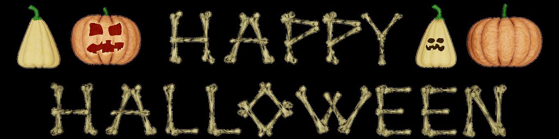Halloween, Happy, Pumpkin, Bone, Font, Horror