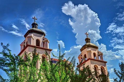 Phoenix, Church, Clouds, Hdr, Cross, Sky