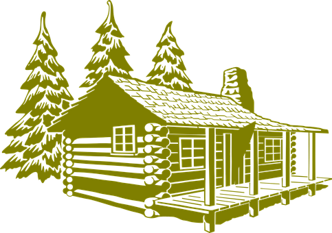 Log Cabin, Cabin, Rustic, House, Home, Rural