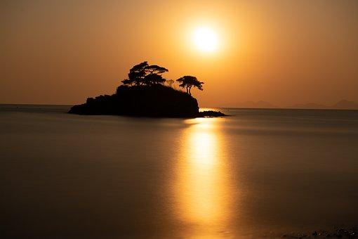 Sol Island, Island, Sunset, Glow, Nature