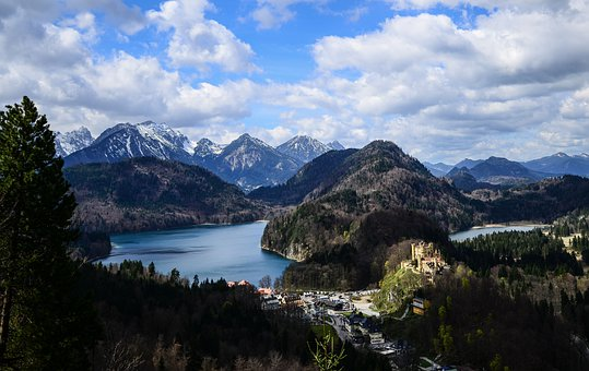 Bavaria, Neuschwanstein, Lake, German, Mountain, Famous