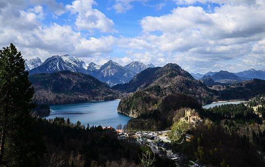 Bavaria, Neuschwanstein, Lake, German