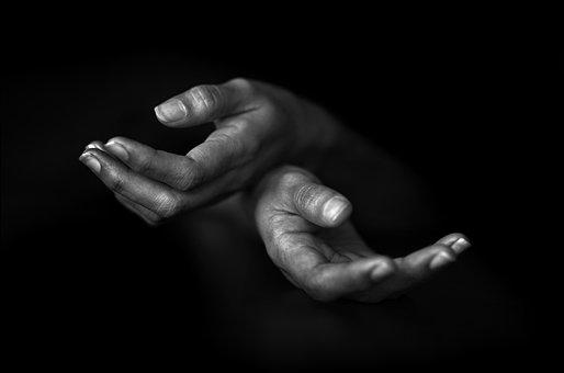 Hands, Hände, Black And White, People
