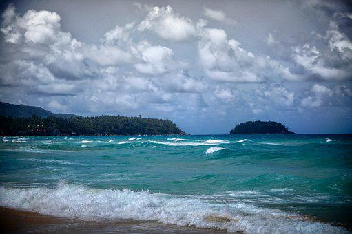 Sea, Ocean, Summer, Wave, Clouds, Nature, Landscape