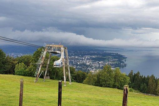 Pledges, Pfänder Cable Car, Vorarlberg, Bregenz, View
