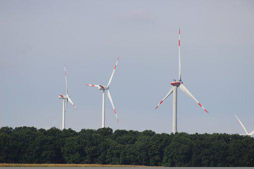 Pinwheel, Windräder, Wind Power, Wind Energy, Sky