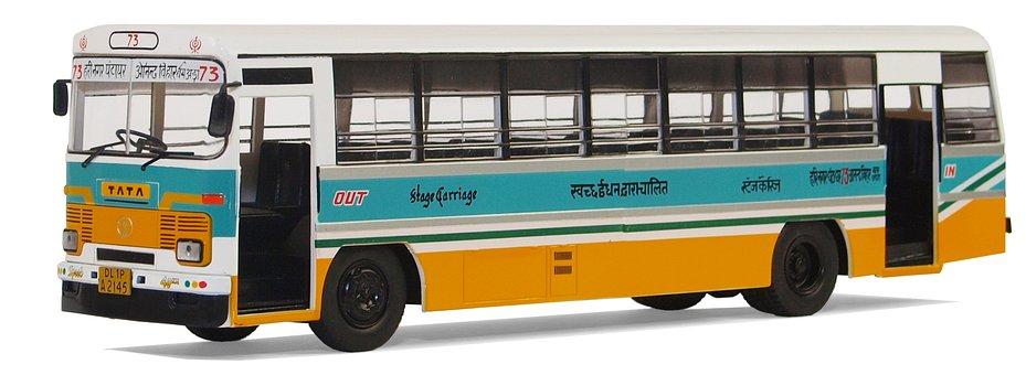 Tata, Lpo 1512, City city Bus, New Delhi, 1990, India