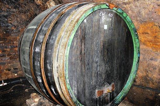 Old, Wine Barrel, Wooden Barrels, Store, Alcohol