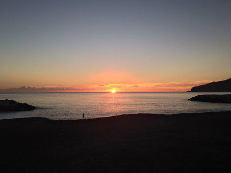 Sunset, Beach, Portugal, Beira Mar, Sol, Mar, Eventide