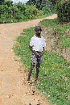 Kenya, Boy, Road, Black Skin, Africa, Dirty, Child