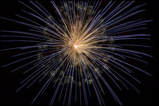Fireworks, Pyrotechnics, New Year's Eve, Bright, Light