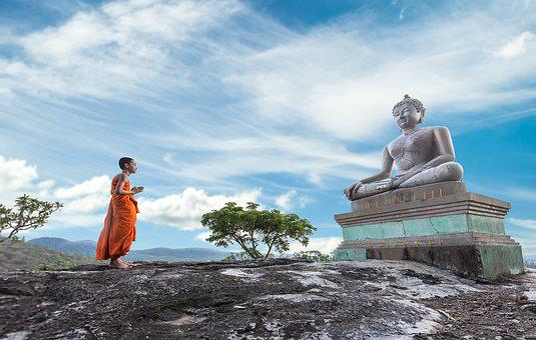 Monk, Buddha, Statue, Sculpture, Buddha Statue