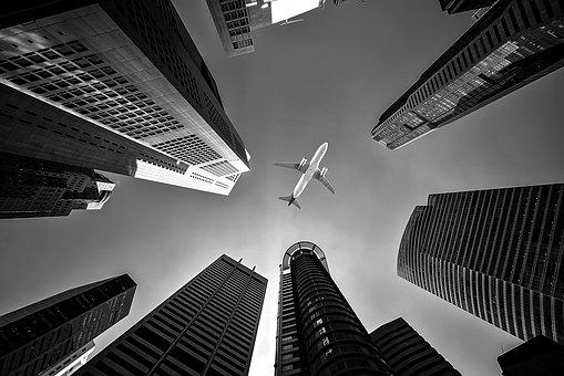 Airline, Architecture, Buildings, City, Flight, Jet