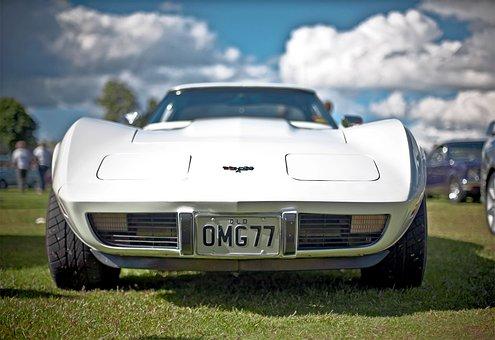 Car, Vehicle, Vintage Car, White Car, Racing Car