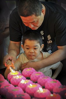 Lighting Candles, Light, Candle, Celebration, Buddhism