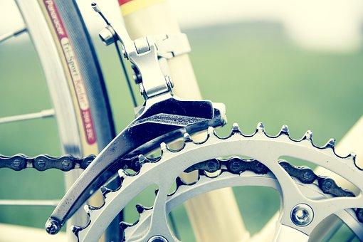 Road Bike, Gear, Vintage, Bottom Bracket, Close, Chain