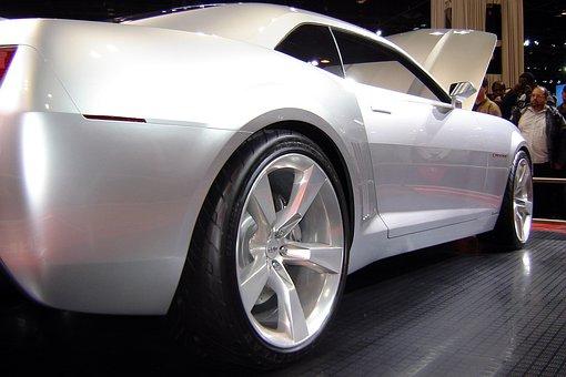 Chevrolet Camaro, Silver, Car, Sports Car, Exhibition