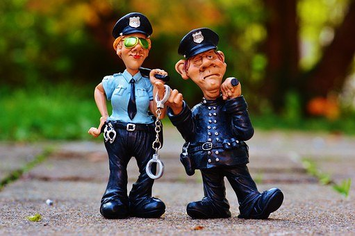 Cop, Policewoman, Colleagues, Funny, Fig, Police
