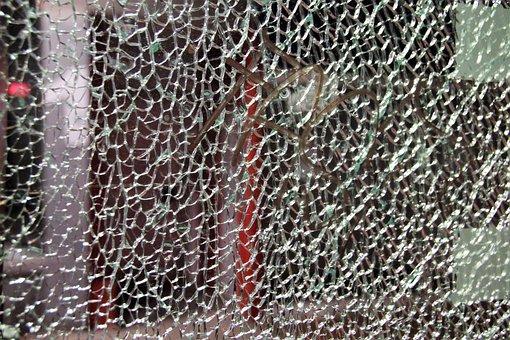Glass, Safety Glass, Cracked, Shard, Background
