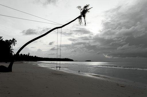 Beach, Sea, Blue Sky, In The Sand, Horizon, Tour