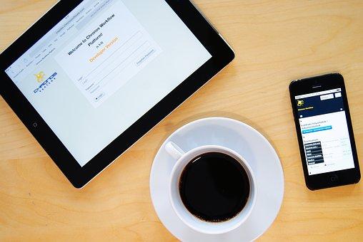 Káve, Office, Work, Iphone, Communication, Mobile