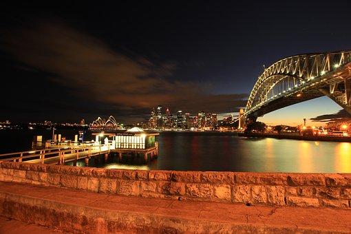 Wall, Bridge, Sydney, Harbour, Landmark, Tourist