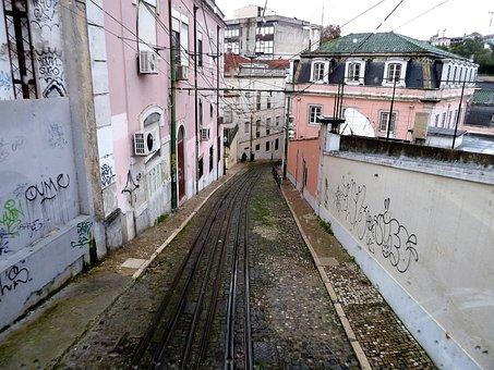 Tram Tracks, Rails, Lisbon