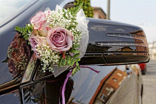 Bouquet, Wedding, Marriage, Decoration, Rosa