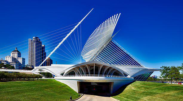 Milwaukee, Wisconsin, Art Museum, Landmark, Modern