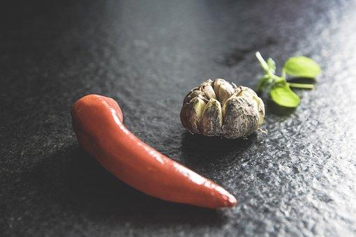 Vegetables, Garlic, Basil, Paprika, Food, Eat, Herb