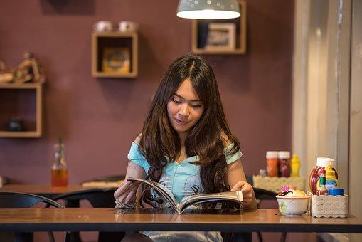 Asia, People, Seductive, Book, Breakfast, Brown