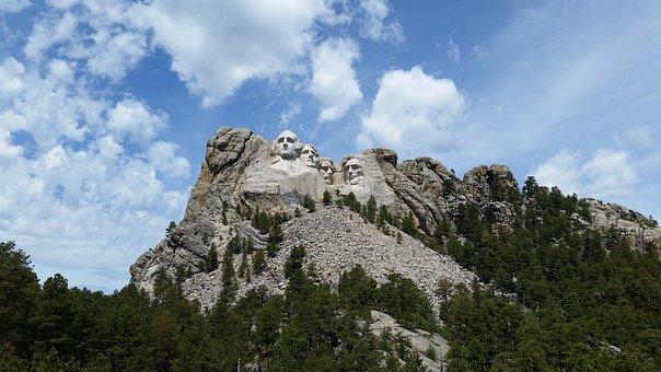 South, Dakota, Monument, Rushmore, Mount, Presidents