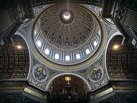 Dome, Rome, Saint Peter, Basilica, Vatican, Building
