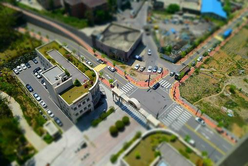 Tilt, Shift, House, Street, Cars, Vehicles, Travel