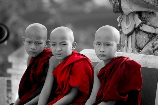 Myanmar, Monks, Children, Burma, Buddhist, Spirituality