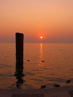 Sunset, Sea, Evening Sky, Abendstimmung, Atmosphere