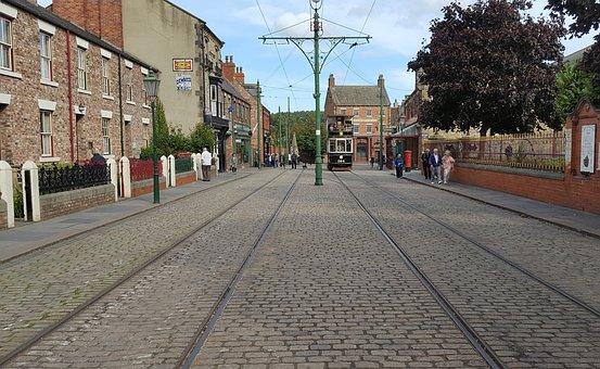Tram, Tracks, Transportation, Transport, Street, Town