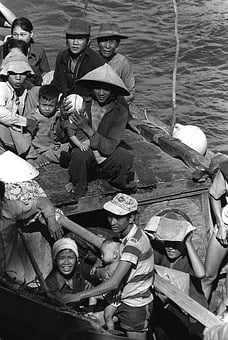 Boat People, 35 Vietnamese Refugees, 1982