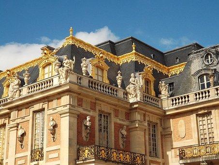 Castle, House, Senate, France, Architecture, Cold