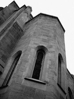 Church, Building, Tall, Window, Bricks, Roof, Structure